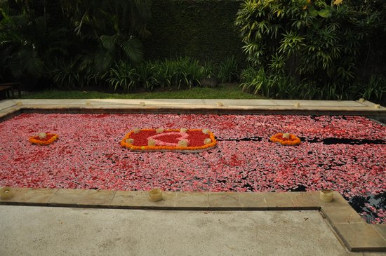 Kayumanis Sanur Private Villa & Spa: Pool with flowers