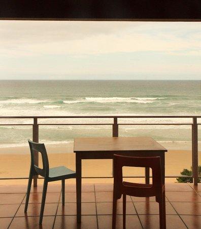 Dune Guest Lodge: Beim Frühstück Delphine beobachten