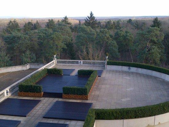 Tiara Chateau Hotel Mont Royal Chantilly : Superbe vue sur la forêt