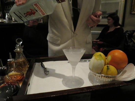 Dukes Hotel: Preparazione del Martini