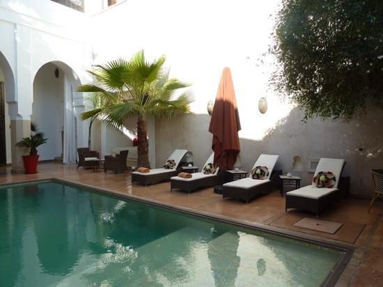 Riad Charai: jardin