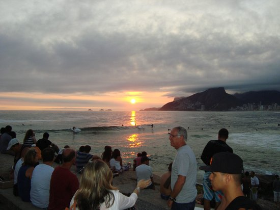 Arpoador beach: por do sol