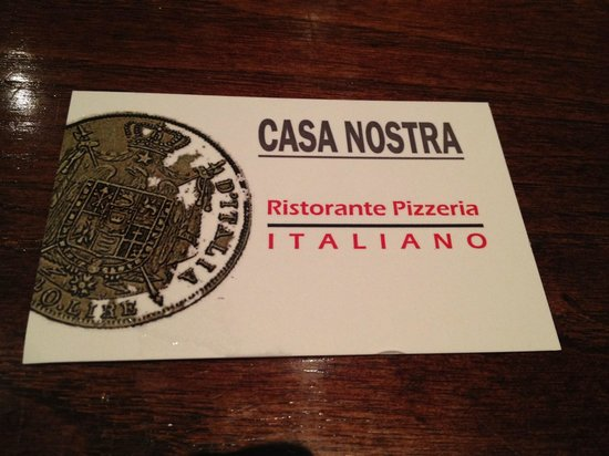 Business card picture of casa nostra italian restaurant london casa nostra italian restaurant business card colourmoves