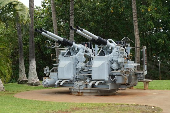 USS Arizona Memorial/WW II Valor in the Pacific National Monument : Anti-aircraft battery