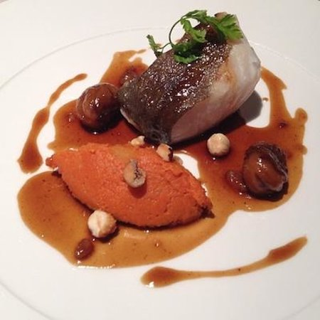 Le Bistrot: Roasted cod with pumpkin, chestnut and hazelnut
