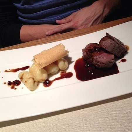 Le Bistrot: Venison with gnocchi and cranberry