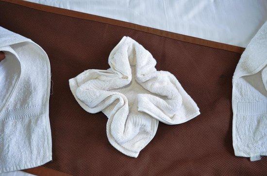 Gruenberg Tea Plantation Haus : Towel Decoration
