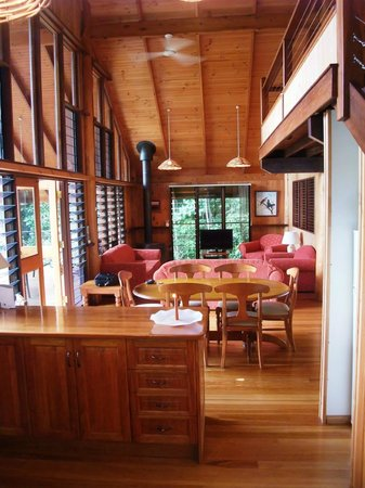 The Canopy Rainforest Treehouses and Wildlife Sanctuary: Living Room from the kitchen