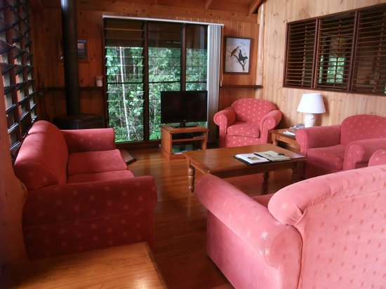 The Canopy Rainforest Treehouses and Wildlife Sanctuary: Living room