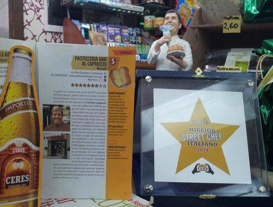 """Pasticceria Bar Al Capriccio: La testimonianza della """"stella"""" ricevuta per la qualità del prodotto offerto alla clientela"""