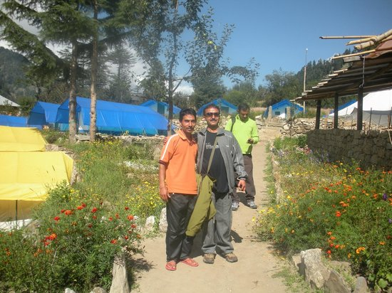 Kinner Camp Sangla : Me with Dilip