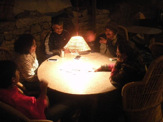 Kinner Camp Sangla: Evening time for in house games