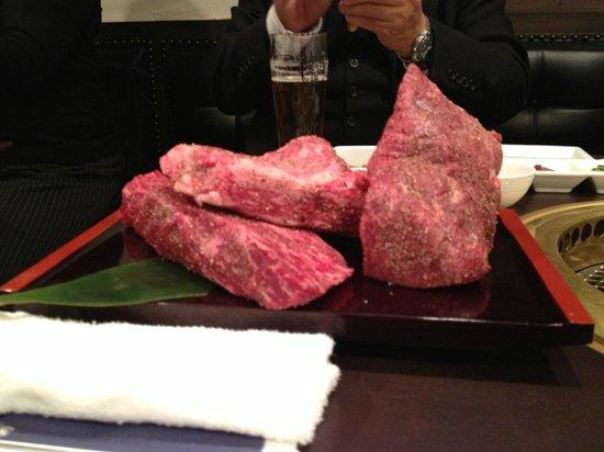 格之進R, 10名で食した塊肉です!店長自ら焼いてくれました(^^)