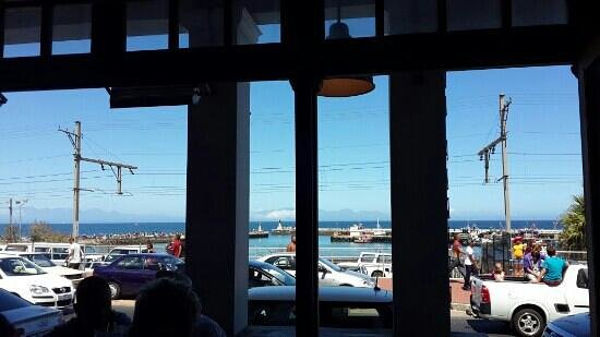 Tapas: view of Kalk Bay Harbour from our table