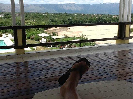 Balcón del Río: Desde el mirador arriba del desayunador