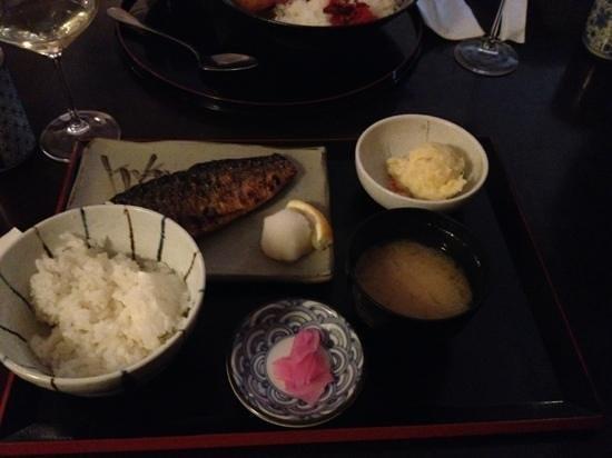 Kushi-Tei Of Tokyo : Mackerel lunch menu, 10 euro
