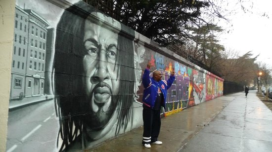 Hush Hip Hop Tours: pioneer of hiphop Kool DJ Herc and handsome MC CAZ in front of it