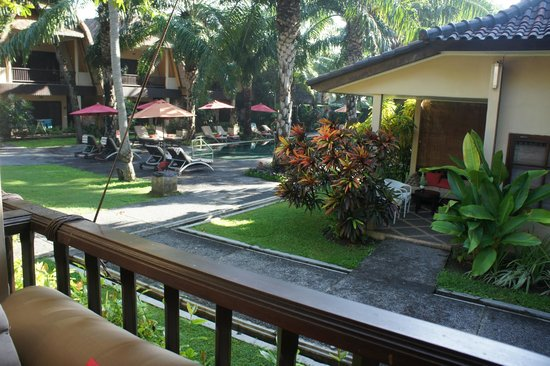 Segara Village Hotel: view from our room