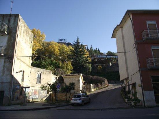 Road leading to Hotel Pomara