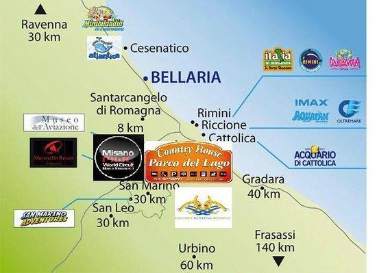 Cartina Costa Adriatica Italia.Cartina Parchi Riviera Foto Di Parco Del Lago Misano Adriatico Tripadvisor