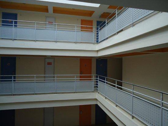 Ginger Hotel Agartala: Brightly lit corridors
