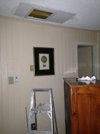 Leatherbark Condos: Ceiling leak from toilet in unit above Leatherbark condo 206B