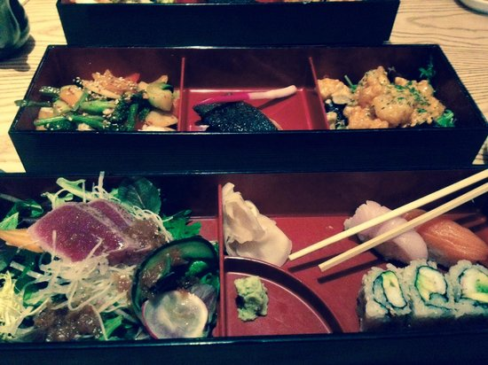 lunch bento box food of angels picture of nobu 57 new york city tripadvisor. Black Bedroom Furniture Sets. Home Design Ideas