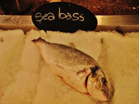 Cucina: Excellent sea bass!
