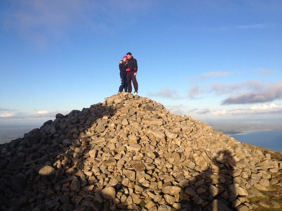 Slieve Donard: At the top