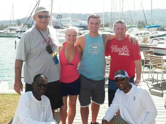 Montego Bay Yacht Club: finished catching time to eat!