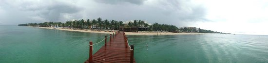 Secrets Aura Cozumel: View of the resort from the pier