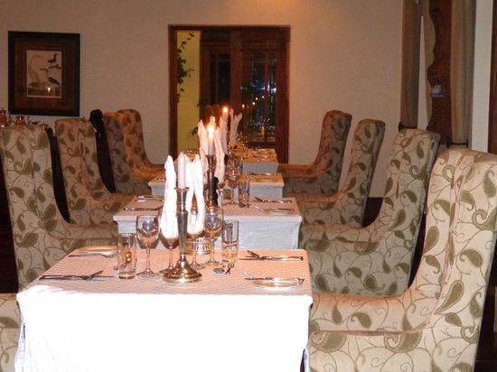 The Manor at Ngorongoro: Dining is intimate yet informal