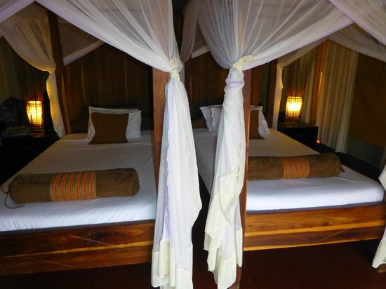 Masek Tented Camp : This is a typical room with two beds