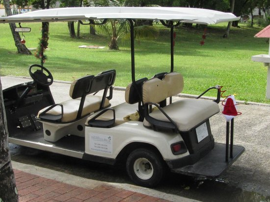 Tranquility Bay Antigua: Typical cart that will transport you around
