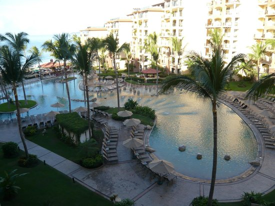 Villa del Palmar Flamingos: View from the room to the pool