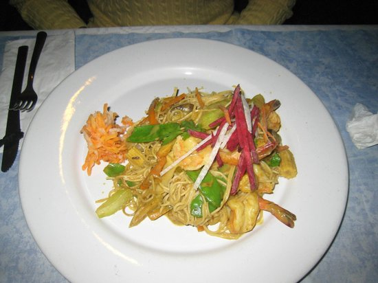 Asia Caribe : My noodles with shrimp
