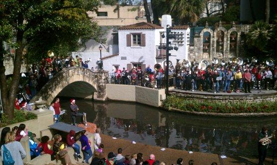 Christmas Tuba Ensemble Artisan Stage Next To Hotel