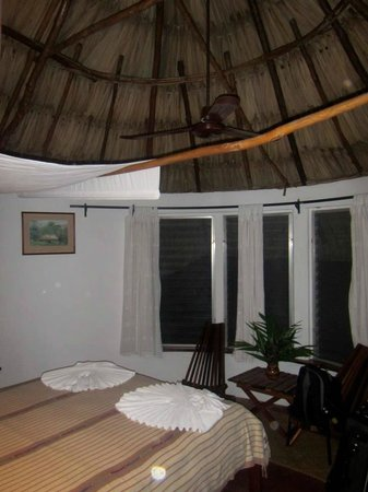 "Pook's Hill Lodge: Inside our hut - the ""bedroom"""