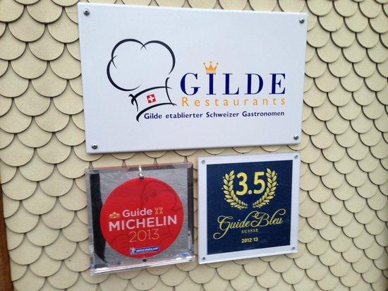 Luthern, Schweiz: Auszeichnungen des Restaurants
