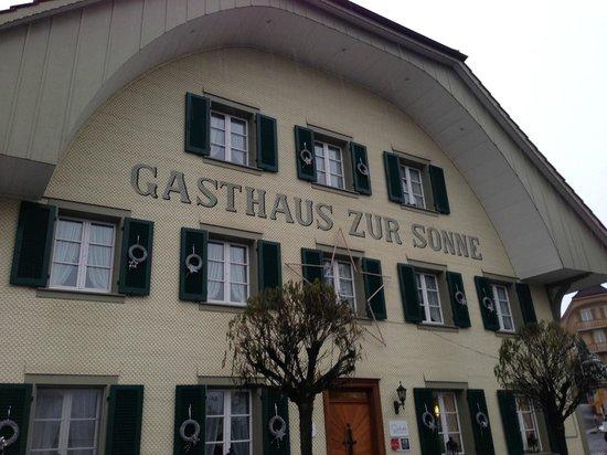 Luthern, Schweiz: Aussenansicht Restaurant