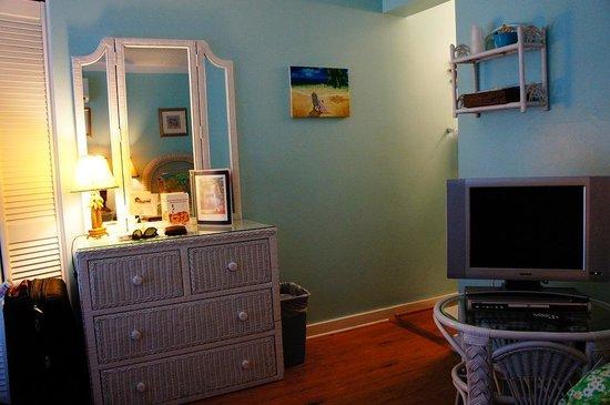 Seascape Tropical Inn: quarto e tv