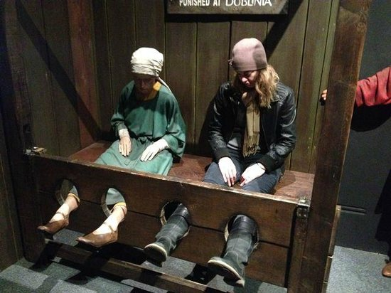 Dublinia: Experience Viking and Medieval Dublin: The stocks...   :)