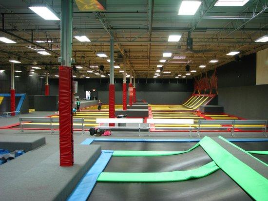 Flight Trampoline Park: 13,000 square feet of trampolines