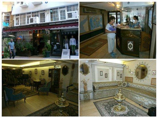 Hotel Nezih: Фасад. Рецепшен. Холл.