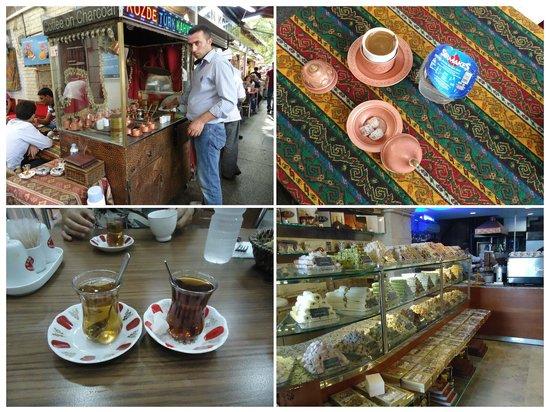 Hotel Nezih: Кофе по турецки и чай.Сладости.