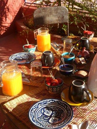 Ryad Dar Ganou : petit dejeune