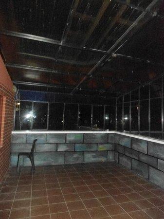 Olas del titicaca: Patio / terraza para habitaciones combinables