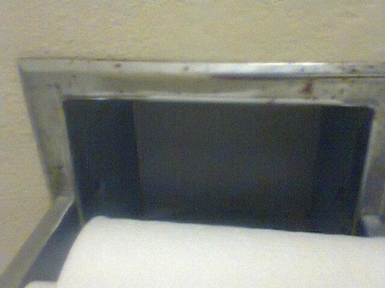 Best Western Airport Inn: Rusty nasty TP holder