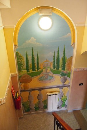 Hotel Ginevra: Treppenhaus
