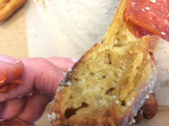 Mellow Mushroom: Unraised dough